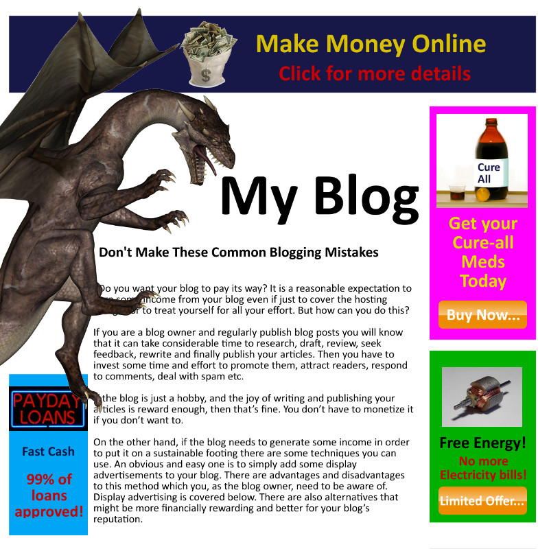 Including Advertising In Your Blog - Here Be Dragons